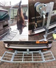Komplett-Set Wildträger bis 250 kg inkl. Winde und Aufbrechgalgen