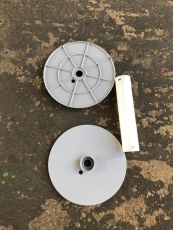 1 Stück Seiltrommel 200, leer, zerlegt, Ersatztrommel