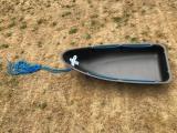 Schlittenwanne / Wildwanne Watt nSchlitten aus HD Polyethen-Plastic - 1,40m lang
